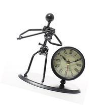 JustNile Creative Desk Clock Table - Stylish Iron Man Violin