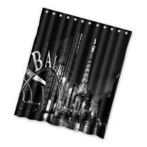 Creative Fashion Las vegas black and white Shower Curtain