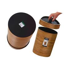 Creative Large Plastic Waste Bins with Swing Lid Graining