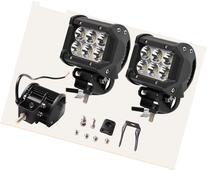 2x 4INCH 18W CREE LED WORK LIGHT BAR SPOT OFFROAD 4WD SUV