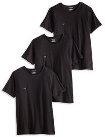 Emporio Armani Men's 3-Pack Crew Neck Lift T-Shirt, Black,