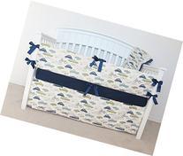 4 Piece Crib Set - car crib bedding, retro Cars, retro rides