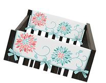 Baby Crib Side Rail Guard Covers for Modern Turquoise and