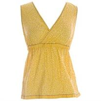 BODEN Women's Crinkle Holiday Top US Sz 14 Yellow/White