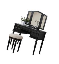Bobkona F4072 St. Croix Collection Vanity Set with Stool,