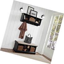 Crosley Furniture Brennan 2-Piece Entryway Bench and Shelf