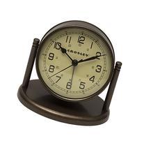 Crosley Nautical Desk Alarm, Bronze
