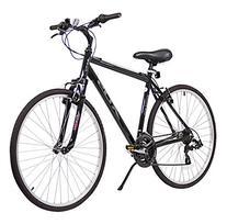XDS Men's Cross 200 21-Speed Hybrid Bicycle, 46cm, Jet Black