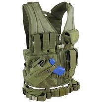 Cross Draw Tactical Vest - Color: OD Green - XLarge /