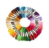 Soledi Cross Stitch Floss 50 Skeins Premium Rainbow Color