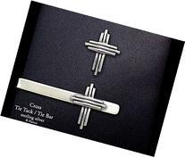 Cross Tie Tack or Cross Tie Bar in Solid Sterling Silver