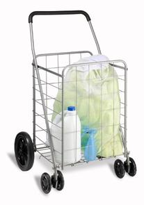 Honey-Can-Do CRT-01640 Rolling Grocery Cart, Dual Front