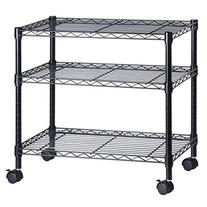 Honey-Can-Do CRT-04050 3-Shelf Rolling Media Cart with