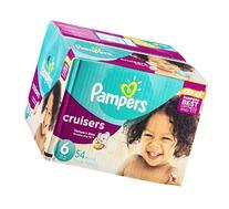 Pampers Cruisers Diapers Super Pack, Size 6, 54 Count