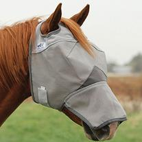 Cashel Crusader Fly Mask with Long Nose - Size: Draft