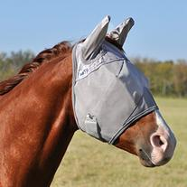 Cashel Cool Crusader Fly Mask Grey Full Size