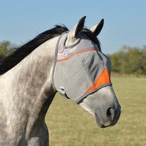 Cashel Crusader Standard Fly Mask with Orange Trim, Animal