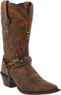 Durango Women's Crush Cowgirl Boot Saddle Brown W/Tan & Brown Boot 7.5 B - Medium