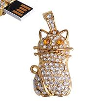 LHN® 8GB Crystal Cat Pendant USB 2.0 Flash Drive