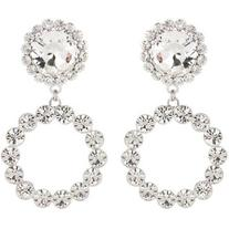 Alessandra Rich Crystal Clip-on Earrings