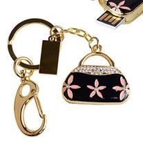 LHN® 8GB Crystal Flower Handbag USB 2.0 Flash Drive with