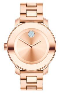 Women's Movado 'Bold' Crystal Marker Bracelet Watch, 36Mm