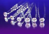 Leegoal 6 pcs Crystal Rhinestones Hair Pins