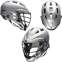 CASCADE CS JUNIOR LACROSSE HELMET SILVER/BLACK ADJUSTABLE