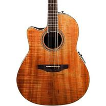 Ovation CS24P-FKOA Acoustic-Electric Guitar, Figured Koa