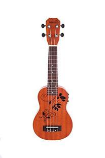 Caramel CS400 Mahogany Butterfly Style Soprano Acoustic