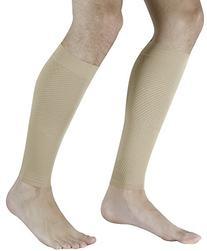 Compression Calf Sleeve Black: Moisture-Wicking, Latex Free
