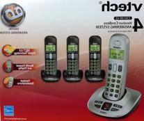 VTech CS6199-42 DECT 6.0 Cordless Phone, Silver/Black, 4