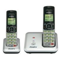 VTech CS6419-2 DECT 6.0 Cordless Phone, Silver/Black, 2