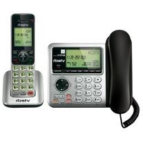 VTech CS6649 DECT 6.0 Expandable Corded/Cordless Phone with