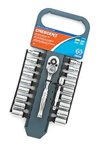 Crescent CSWS1 1/4-Inch Drive Socket Wrench Set, 20-Piece