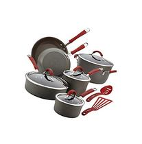 Rachael Ray® Cucina 12-pc. Cranberry Red Hard Anodized
