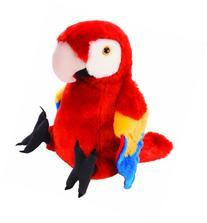 "Wild Republic Cuddlekin Macaw Scarlet 12"" Plush"