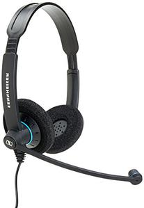 Sennheiser SC 60 USB CTRL  - Double-Sided Business Headset | For Unified Communications | with HD Sound, Noise-Cancelling Microphone, & USB Connector