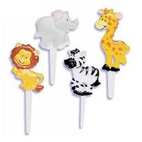 Oasis Supply Cupcake/Cake Decorating Zoo Animal Puffy Picks