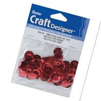 Cupped Sequins 10mm 120/Pkg-Red
