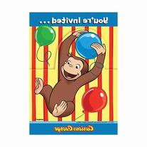 Curious George Invitations  Party Supplies