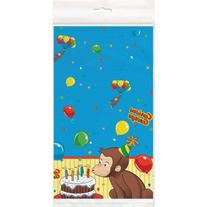 Curious George Plastic Table Cover - Birthday and Theme