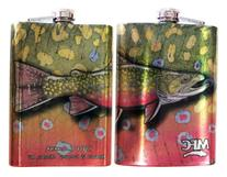 MFC Currier Stainless Steel Hip Flask, Brook Trout