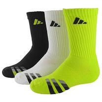 adidas Boys Cushion Crew Socks , Semi Solar Yellow/Black -