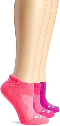 ASICS Women's Cushion Low Cut Sock , Medium, Knockout Pink