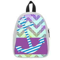 Custom Fashion Childrens Backpacks Anchor With Abstract