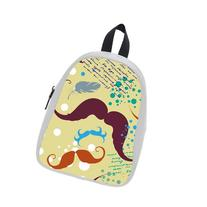 Custom Fashion Childrens Backpacks Cute Mustaches With Dots