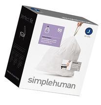 simplehuman Custom Fit Trash Can Liner J, 30-40 L / 10-10.5