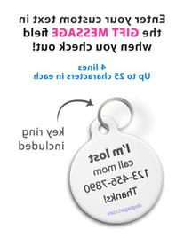 Dog Tag Art Custom Pet ID Tag for Dogs - I Have Diabetes -