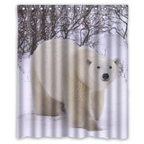 "Custom Polar Bear Waterproof Polyester Fabric 60"" x 72"""